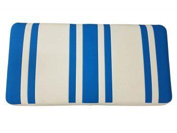 Beyond 6 seat cushion + base - ocean/white
