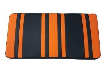 Beyond 6 seat cushion + base - orange/blk