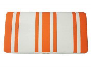 Beyond 6 seat cushion + base - orange/white