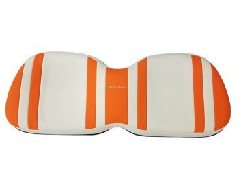 Beyond 6 backward seat cushion + base - orange/white