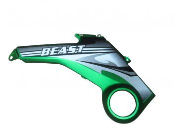 Beast Left Mid Protection Plate Green